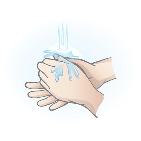 lavage mains: Se laver les mains Illustration