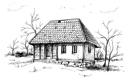 old pen: Balkan house