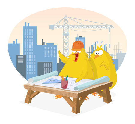 Chicks discussing a project Stock Vector - 27894798