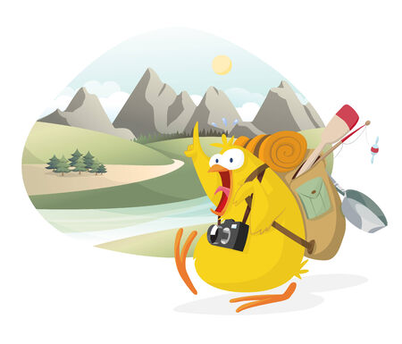 Explorer chick Vector