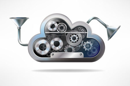 steam output: Cloud computing Stock Photo