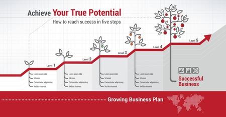 albero da frutto: La crescita finanziaria Vettoriali