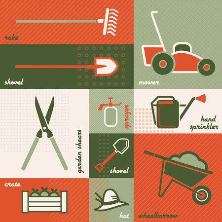 dyi: Gardening tools Illustration