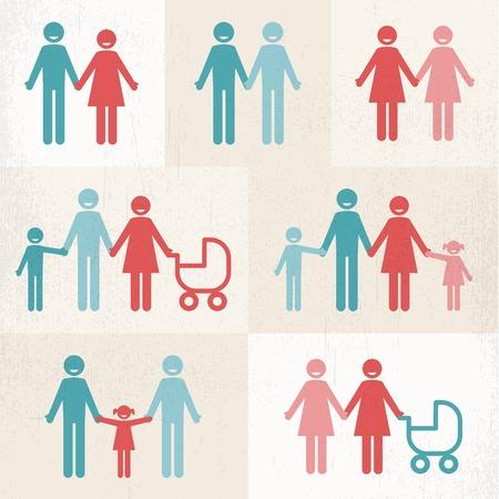 lgbt: Families Illustration