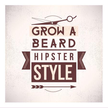 Grow a beard Vector
