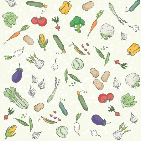celery: Vegetables seamless pattern