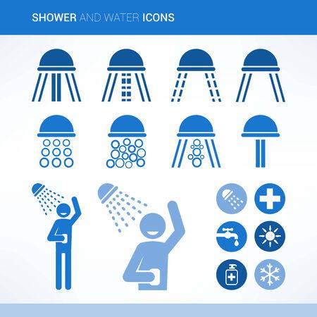 showering: Head shower