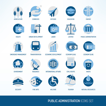 Administration icons Vector