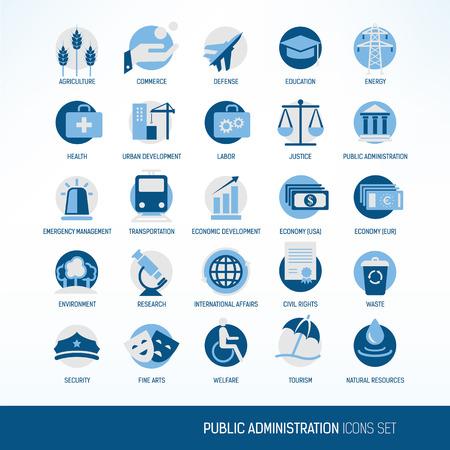 gesundheitsmanagement: Verwaltung Symbole Illustration