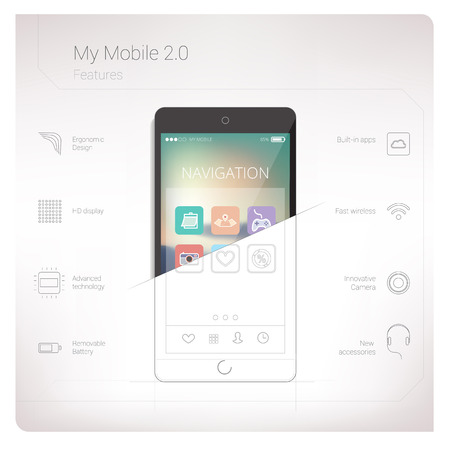 Mobile features Vector