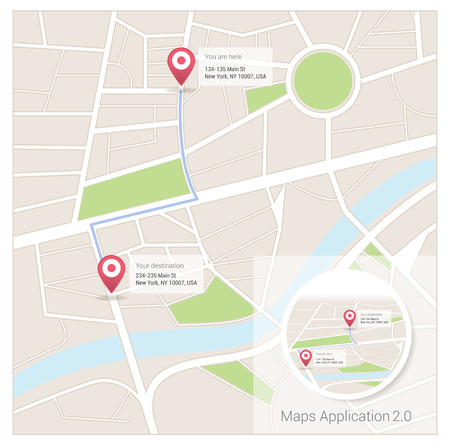 Street map app