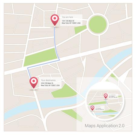 Street map app Vector