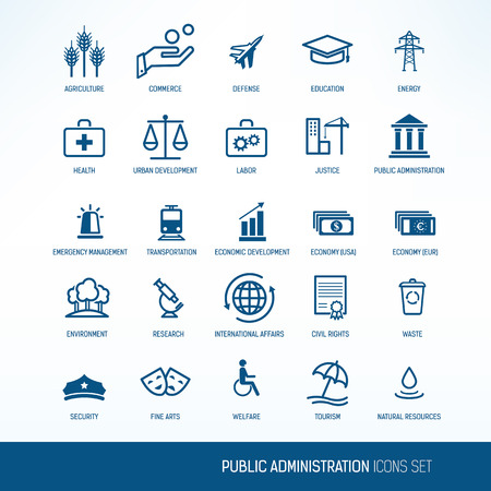 Public administration icons