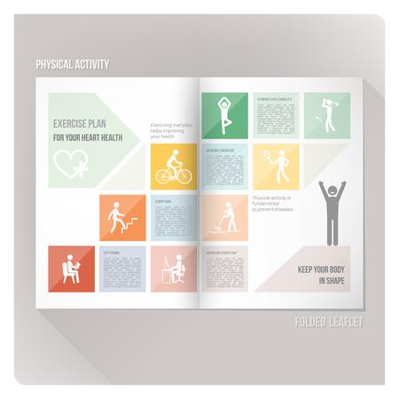 educacion fisica: Folleto Deporte Vectores