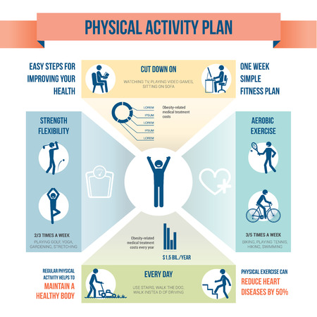 physical activity: Physical activity Illustration