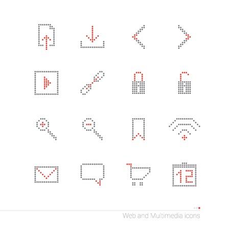 Pixel icons set Vector