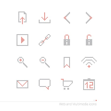 instant messaging: Pixel icons set Illustration