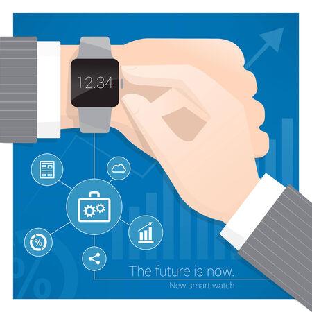 wrist watch: Smart watch Illustration