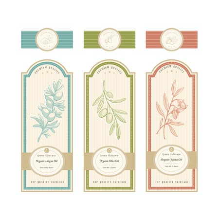 aromatherapy oil: Skincare product label