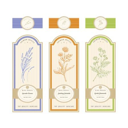 fragrance: Huidverzorgingsproduct label Stock Illustratie