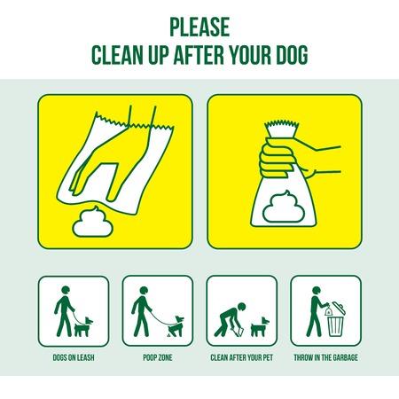 Opruimen na uw hond Stock Illustratie