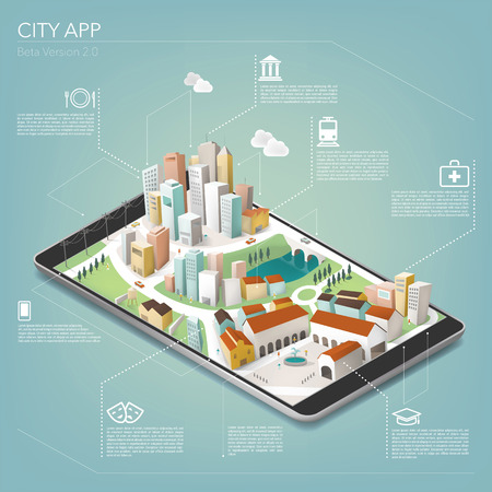 touch screen interface: City app