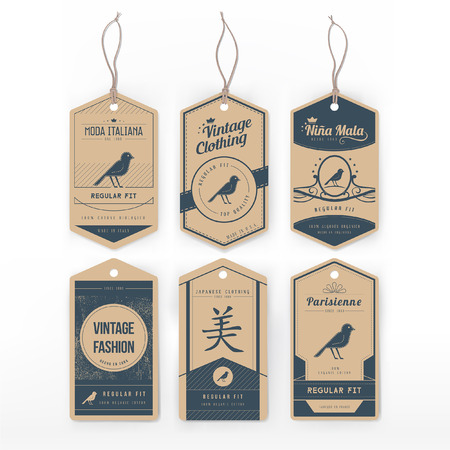 etiquetas de ropa: Etiqueta de la ropa de la vendimia