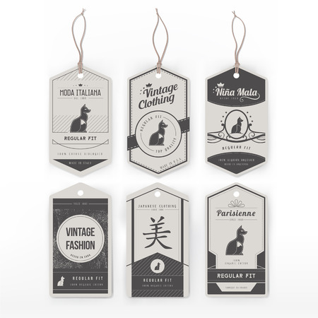 house prices: Vintage clothing tag
