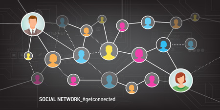 Meet new people and find new friends online using social networks