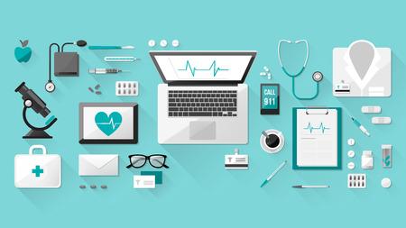 equipos medicos: M�dico Vectores