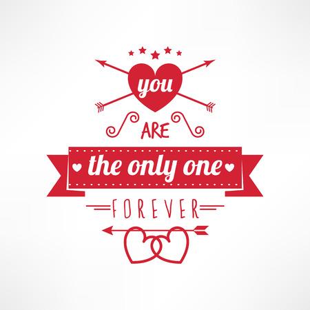 st valentine: Usted es el �nico texto, st valentine tarjeta de amor