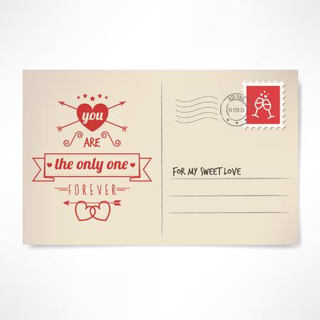 st valentine: Usted es el �nico st Valentine love vintage postal