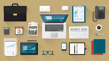 business desk: Businessman Illustration