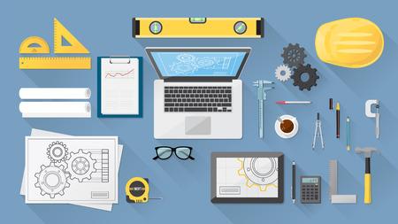 herramientas de mec�nica: Ingeniero Vectores
