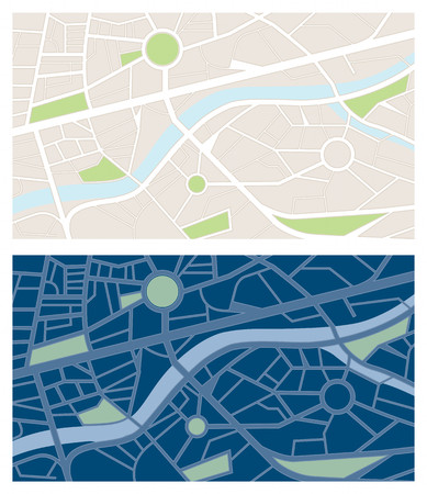 night vision: Navigator maps banner set with night vision, letterbox size