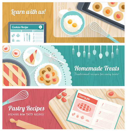 cooking book: Pastry banner set