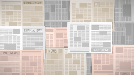 news background: Old newspapers texture covering a table or a window