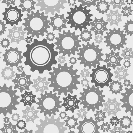 Gears seamless vector pattern, engineering and technology concept