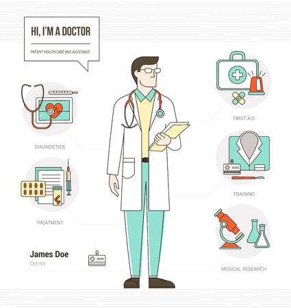 Médico Profesional Habilidades Reanudar Infografía Con Herramientas ...