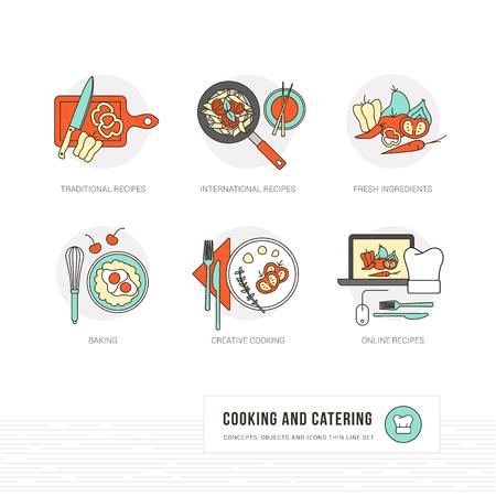 Sfondo Cucina Creativa Con Utensili Da Cucina, Ingredienti ...