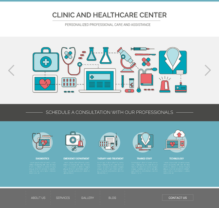 hospital icon: Healthcare and medicine web template, patient care, therapy and treatment concept