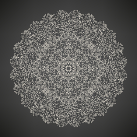 intricate: Abstract intricate mandala, decoration and ornament Illustration