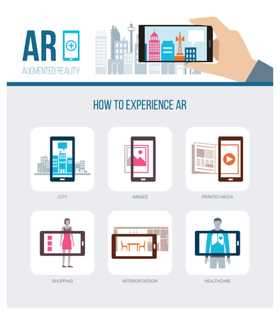 ar: Applications of augmented reality: smart city, retail products, printed media ads and healthcare