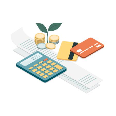 Personal finances concept