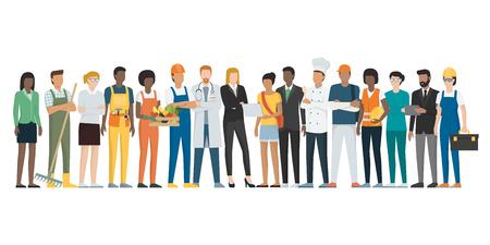 Pracownicy stojący razem