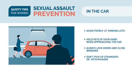 Sexual assault prevention and self defense tips for women: how to be safe while driving
