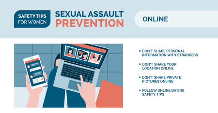 Sexual assault prevention and self defense tips for women: how to be safe online