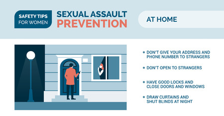 Sexual assault prevention and self defense tips for women: how to be safe at home