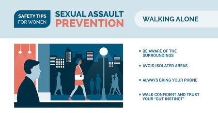 Sexual assault prevention and self defense tips for women: how to be safe when walking alone