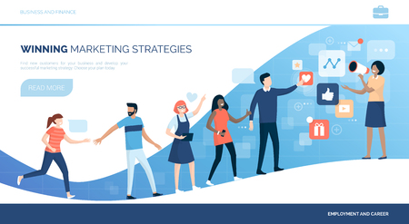 Winning customers with marketing strategies and social media advertisement